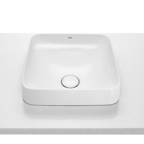 Roca Inspira Halbeinbau-Waschtischschale square weiß, mit MaxiClean