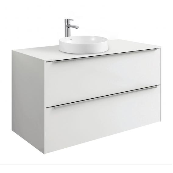 Roca Inspira Waschtischunterschrank für Halbeinbauwaschtisch mit 2 Auszügen Front weiß glanz / Korpus weiß glanz