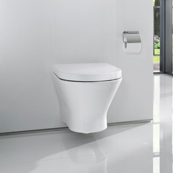 Roca Nexo Wand-Tiefspül-WC ohne spülrand mit WC-Sitz