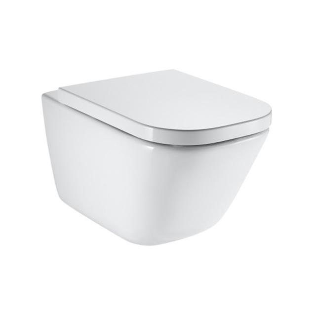 Roca Dama Senso Square Wand-Tiefspül-WC mit WC-Sitz