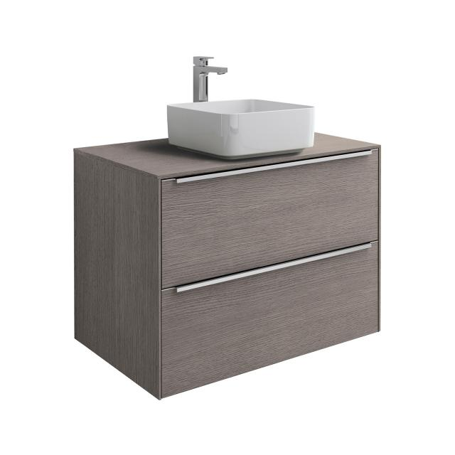 Roca Inspira Aufsatzwaschtisch square mit Waschtischunterschrank mit 2 Auszügen Front city eiche / Korpus city eiche