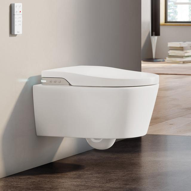 Roca Inspira In-Wash Dusch-WC, mit WC-Sitz Wasserzulauf über Keramik