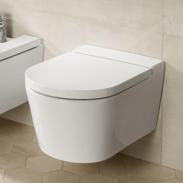 Roca Inspira Wand-Tiefspül-WC round weiß, mit MaxiClean