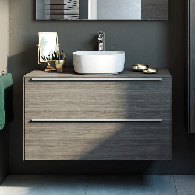 Roca Inspira Waschtischunterschrank für Aufsatzwaschtisch mit 2 Auszügen Front city eiche / Korpus city eiche