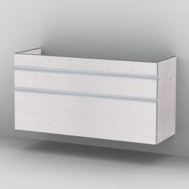 Sanipa 2morrow Waschtischunterschrank für Venticello Doppelwaschtisch hoch mit 2 Auszügen Front linde hell/ Korpus linde hell