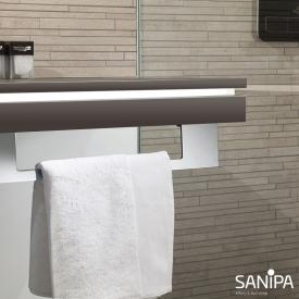 Sanipa 2morrowLight Platte mit LED-Beleuchtung fumo