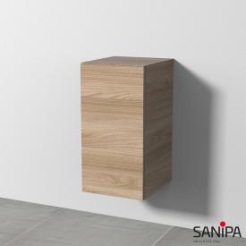 Sanipa 3way Beistellschrank mit 1 Tür Front ulme natural touch / Korpus ulme natural touch, mit Tip-on-Technik