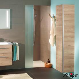 Sanipa 3way Hochschrank mit Tür, Innenseite verspiegelt Front ulme natural touch/ Korpus ulme natural touch