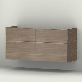 Sanipa 3way Waschtischunterschrank mit 4 Auszügen für Doppelwaschtisch Front ulme natural touch/ Korpus ulme natural touch