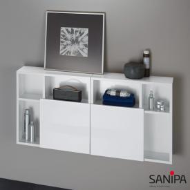 Sanipa 3way Würfelschrank umkehrbar Front weiß glanz/ Korpus weiß glanz