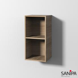 Sanipa Cubes Regalmodul mit 2 Fächern ulme natural touch
