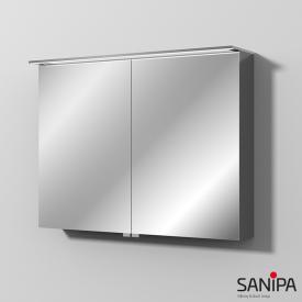 Sanipa Reflection Spiegelschrank MALTE mit LED-Beleuchtung anthrazit glanz