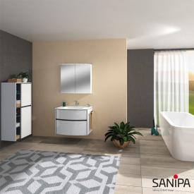 Sanipa Reflection Spiegelschrank mit LED-Beleuchtung weiß glanz
