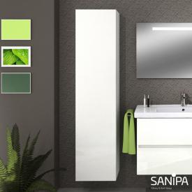 Sanipa Solo One Euphoria/Harmonia Hochschrank mit 1 Tür Front weiß glanz / Korpus weiß glanz
