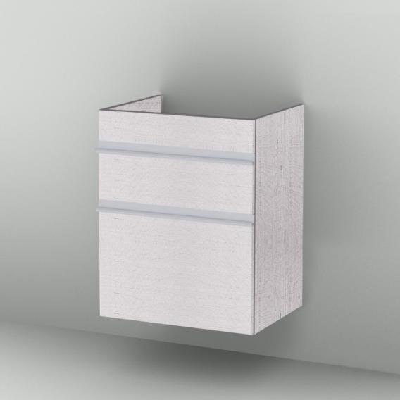 Sanipa 2morrow Waschtischunterschrank hoch mit 2 Auszügen für Venticello Front linde hell/ Korpus linde hell
