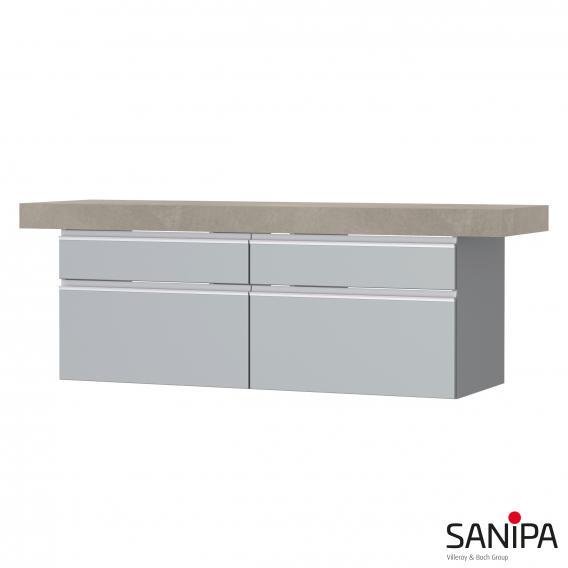 Sanipa 2morrow Waschtischunterschrank für Konsole Front steingrau/ Korpus steingrau