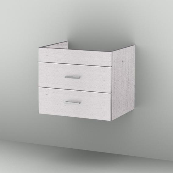 Sanipa 2morrow Waschtischunterschrank normal mit 2 Auszügen für Venticello Front linde hell/ Korpus linde hell