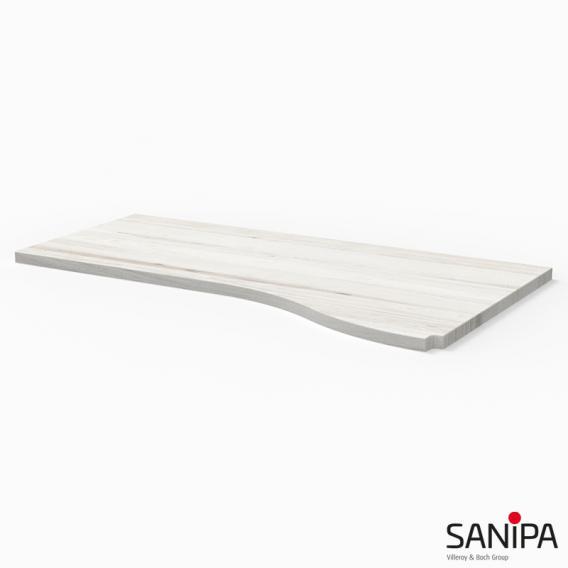 Sanipa CantoBay Abdeckplatte groß für Anbauschrank geschwungen linde hell