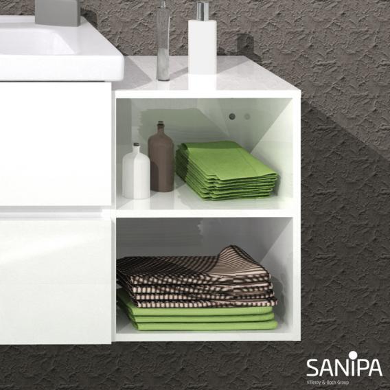Sanipa Solo One Euphoria/Harmonia Anbauregal weiß glanz
