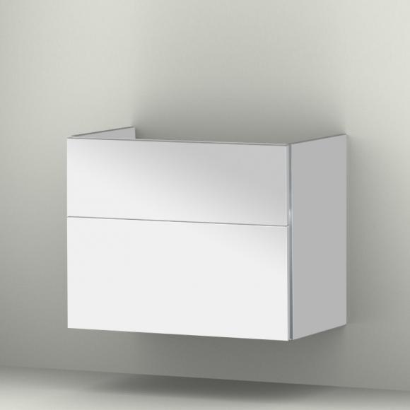 Sanipa 3way Waschtischunterschrank B: 75 H: 58,8 T: 44,7 cm, 2 Auszüge Front weiß glanz/ Korpus weiß glanz BS75878