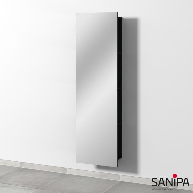 Sanipa 3way Spiegelregal schwarz matt