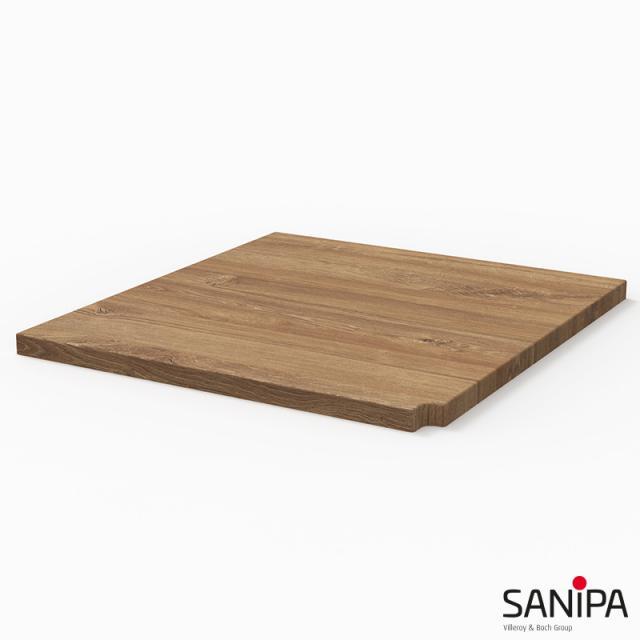 Sanipa CantoBay Abdeckplatte klein für Anbauschrank gerade eiche kansas