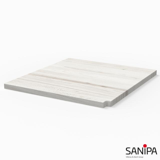 Sanipa CantoBay Abdeckplatte klein für Anbauschrank gerade linde hell