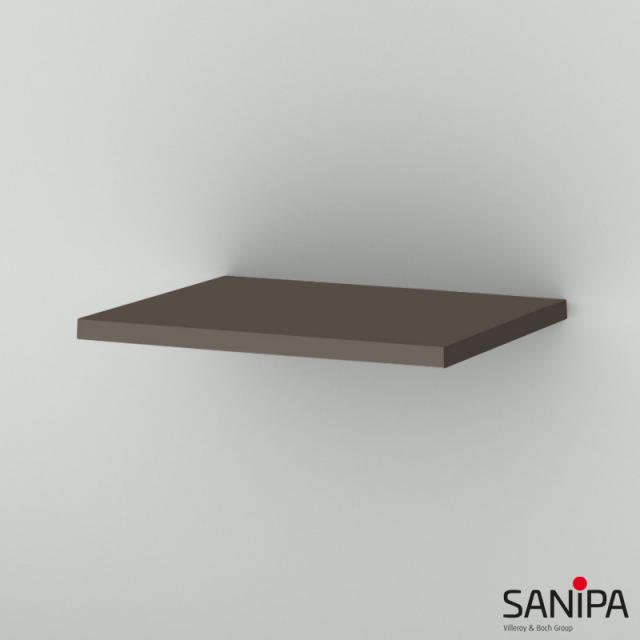 Sanipa CantoBay Abdeckplatte für Seitenschrank terra matt