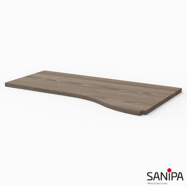 Sanipa CantoBay Abdeckplatte groß für Anbauschrank geschwungen pinie grau