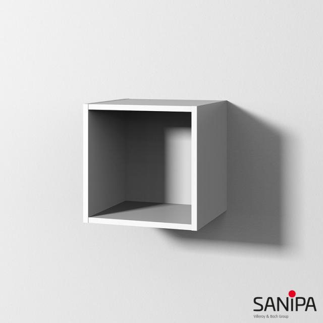 Sanipa Cubes Regalmodul mit 1 Fach weiß soft