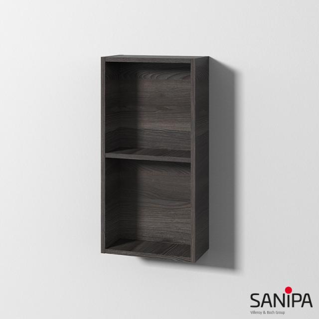 Sanipa Cubes Regalmodul mit 2 Fächern pinie schwarz