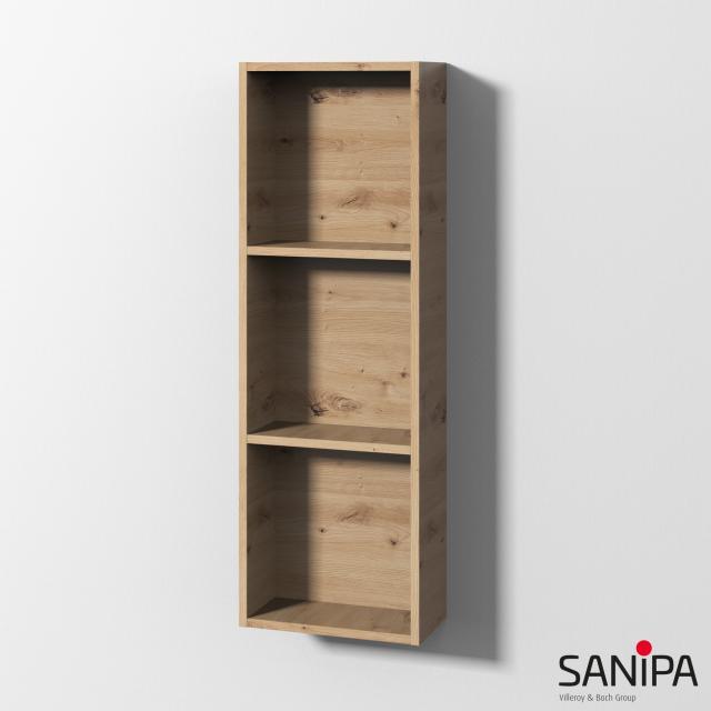 Sanipa Cubes Regalmodul mit 3 Fächern eiche natural touch