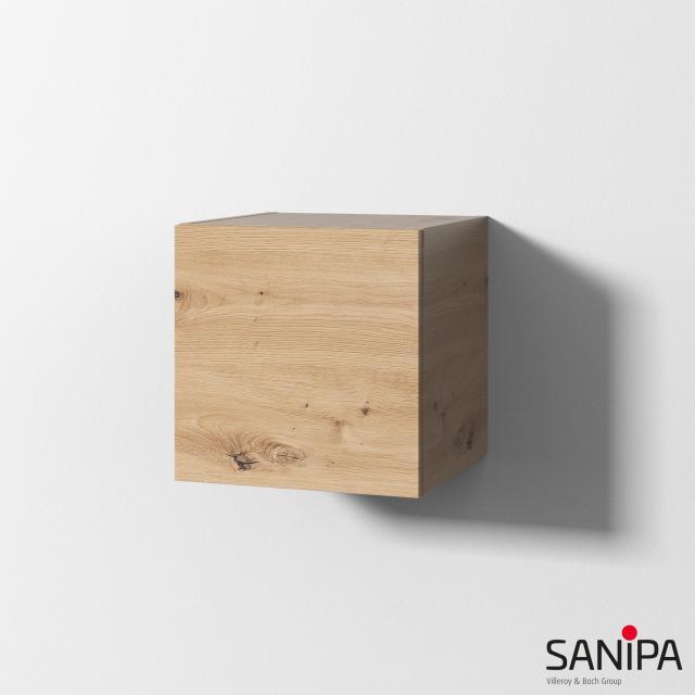 Sanipa Cubes Regalmodul mit Tür Front eiche natural touch/Korpus eiche natural touch