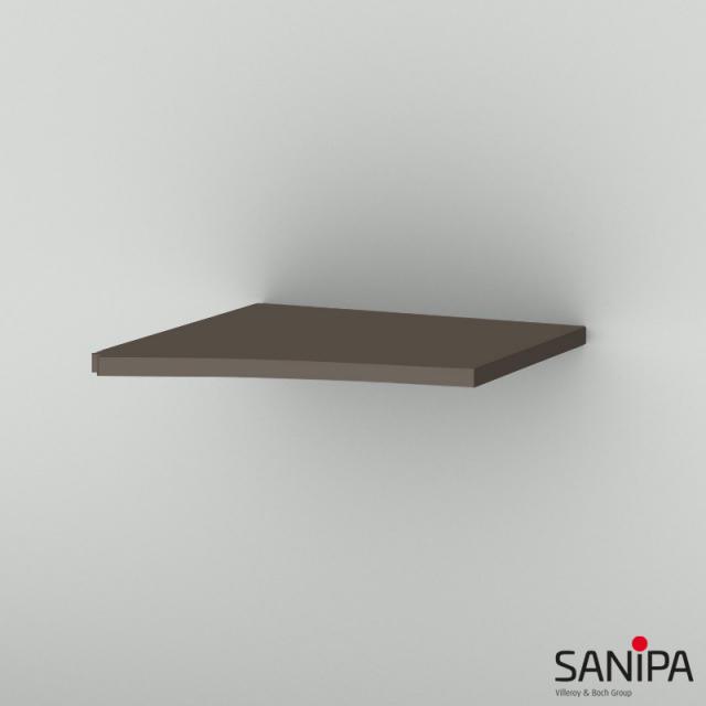 Sanipa CurveBay Abdeckplatte für Anbauschrank geschwungen terra matt