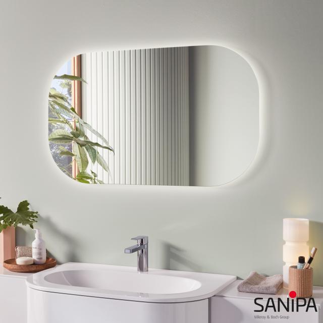 Sanipa Reflection Lichtspiegel LUNA mit LED-Beleuchtung