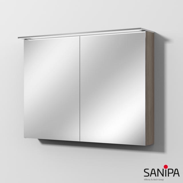 Sanipa Reflection Spiegelschrank MALTE mit LED-Beleuchtung pinie grau