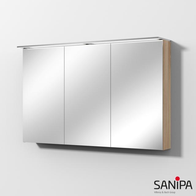 Sanipa Reflection Spiegelschrank MALTE mit LED-Beleuchtung ulme natural touch