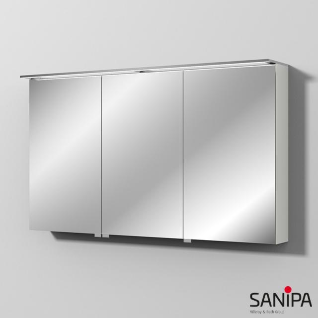 Sanipa Reflection Spiegelschrank MALTE mit LED-Beleuchtung weiß soft