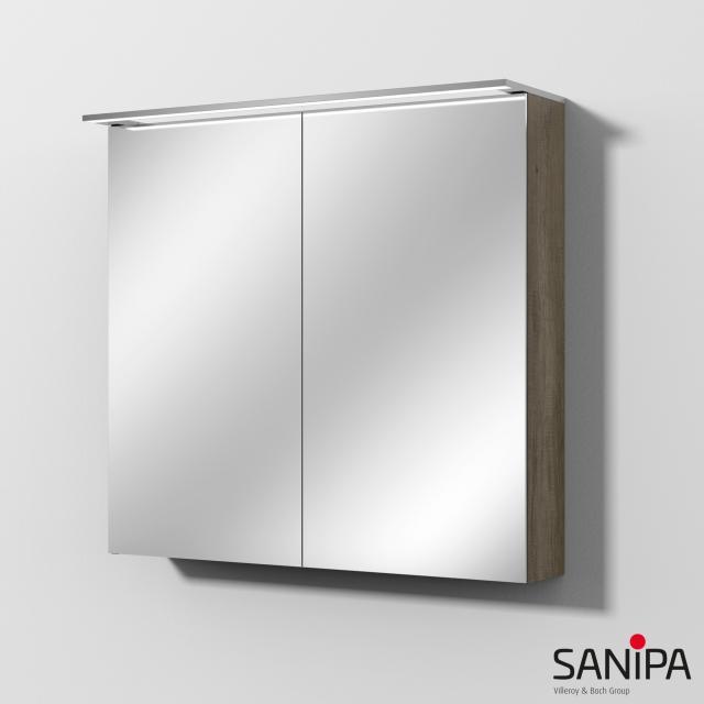 Sanipa Reflection Spiegelschrank MALTE mit LED-Beleuchtung eiche nebraska