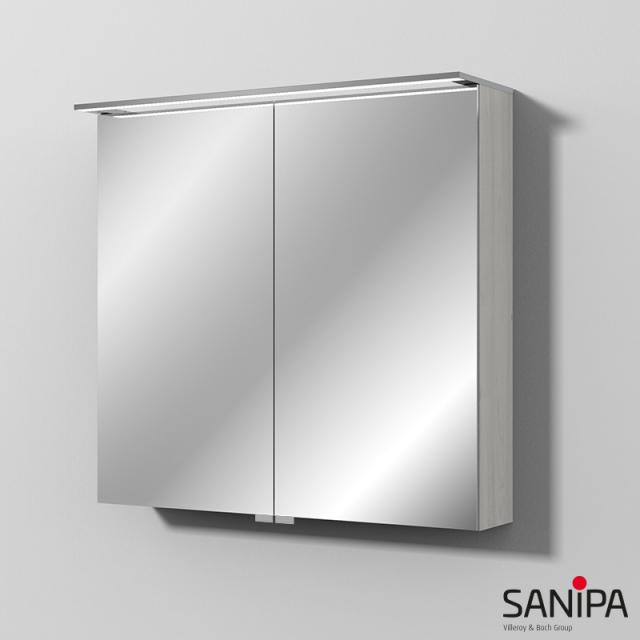 Sanipa Reflection Spiegelschrank MALTE mit LED-Beleuchtung linde hell