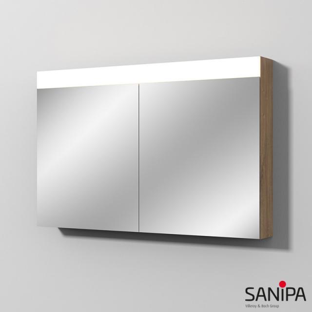 Sanipa Reflection Spiegelschrank MARA mit LED-Beleuchtung eiche kansas