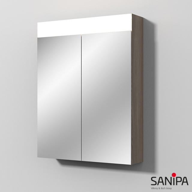 Sanipa Reflection Spiegelschrank MARA mit LED-Beleuchtung pinie grau