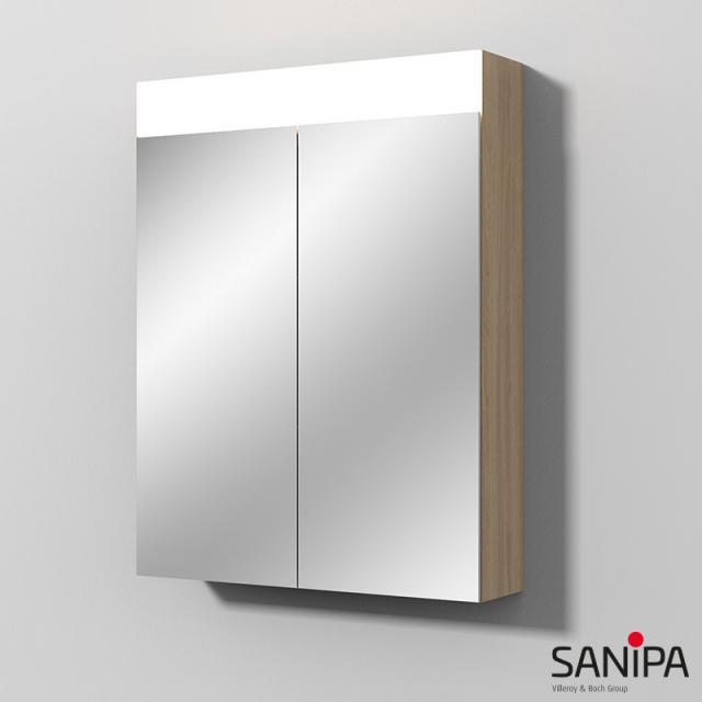 Sanipa Reflection Spiegelschrank MARA mit LED-Beleuchtung ulme impresso