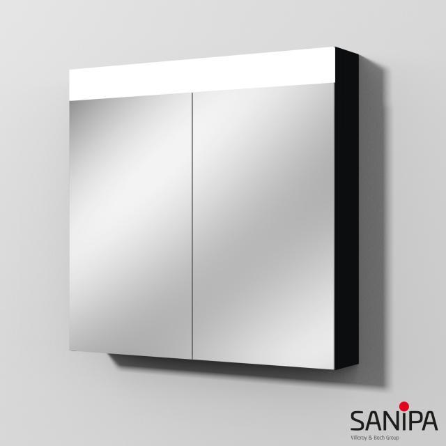 Sanipa Reflection Spiegelschrank MARA mit LED-Beleuchtung schwarz matt