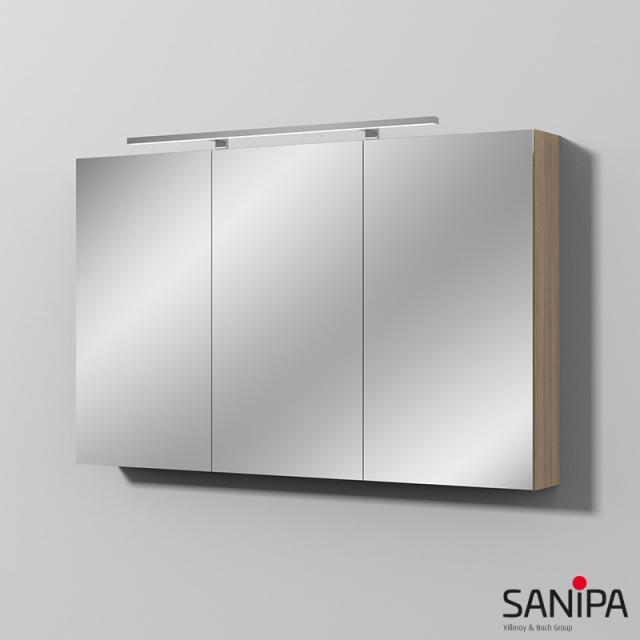 Sanipa Reflection Spiegelschrank MILLA mit LED-Beleuchtung ulme impresso