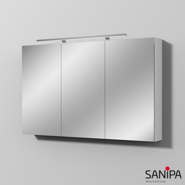 Sanipa Reflection Spiegelschrank MILLA mit LED-Beleuchtung weiß glanz