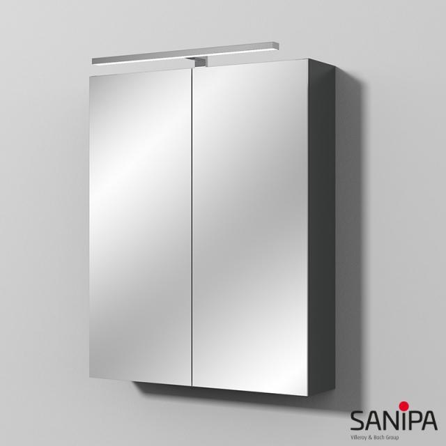 Sanipa Reflection Spiegelschrank MILLA mit LED-Beleuchtung anthrazit matt