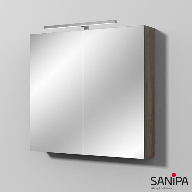 Sanipa Reflection Spiegelschrank MILLA mit LED-Beleuchtung eiche nebraska
