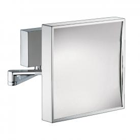 sam Wand-Kosmetikspiegel quadratisch, Ausladung 333 mm, 2,5-fach Vergrößerung
