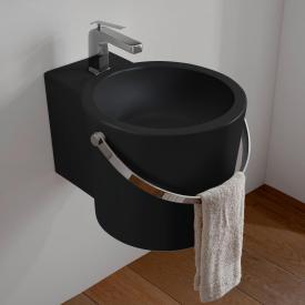 Scarabeo Bucket Aufsatz- oder Hängewaschbecken schwarz matt, mit BIO System Beschichtung